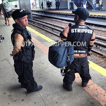 midget police stripper