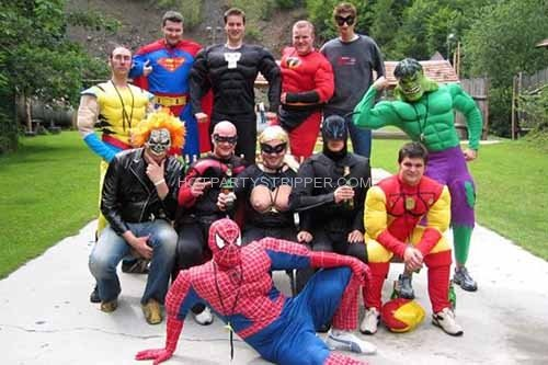 bachelor party costume party