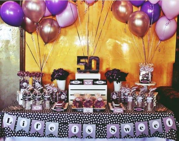 Sacramento 50th Birthday Party Ideas